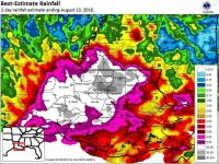 49 9.2k shares Louisiana Flood of 2016 resulted from '1,000-year' rain in 2 days 2 / 2 Rainfall totals for the 48 hours ending at 7 a.m. Saturday (Aug. 13). Mark Schleifstein, NOLA.com | The Times-Picayune